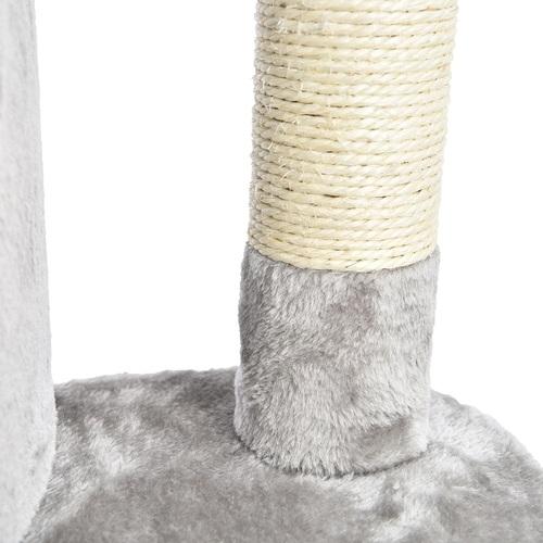 ALDOTRADE Rohové škrabadlo pro kočky Mourek 49x49x130 cm