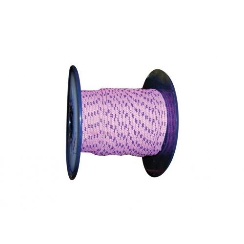 šňůra PES s duší 6mm barevná pletená (100m)