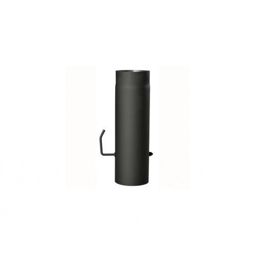 roura kouřová s klap.150mm/ 500 t.1,5mm ČER