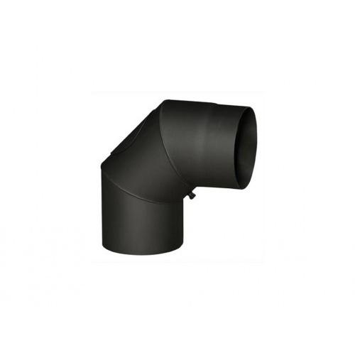 koleno kouřové s otv.145mm/90st.t.1,5mm ČER