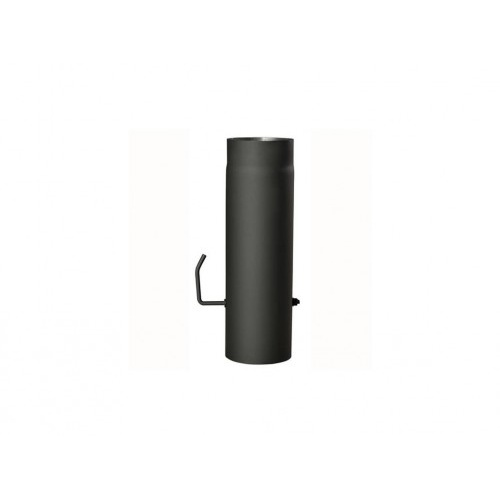 roura kouřová s klap.145mm/ 500 t.1,5mm ČER