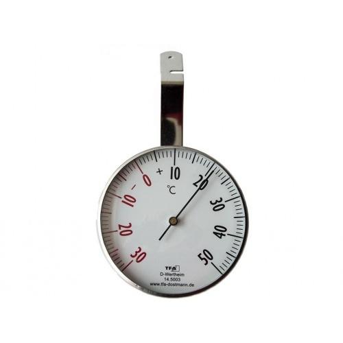 teploměr okenní kulatý 7cm kovový 14.5003