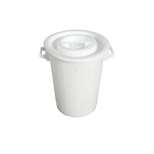 Nádoba plastová + víko bílá
