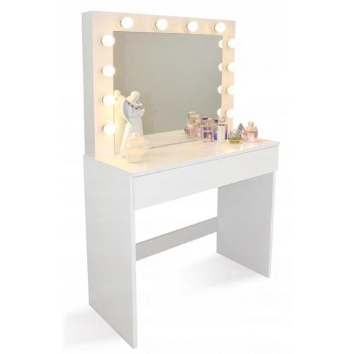 ALDOTRADE Toaletní kosmetický stolek Linda 80x40x140cm se zrcadlem