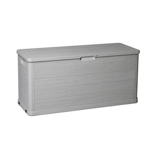 ALDOTRADE Zahradní úložný box dřevo 280l šedý