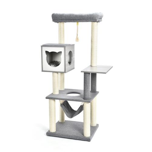 ALDOTRADE Škrabadlo pro kočky Gita 59x49x155 cm