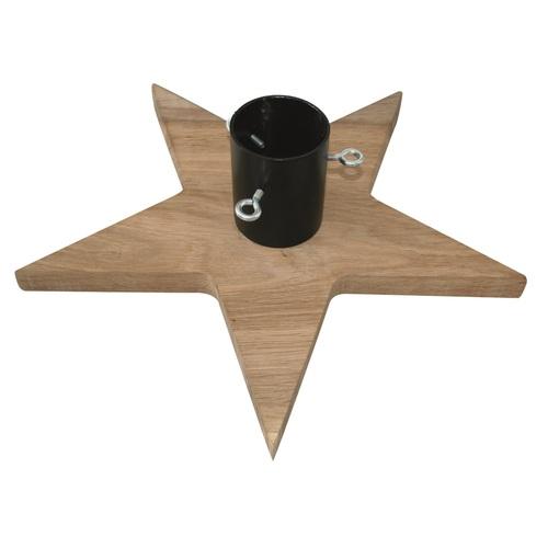 Dřevěný stojan na stromek Stea tmavě hnědá 56x56cm
