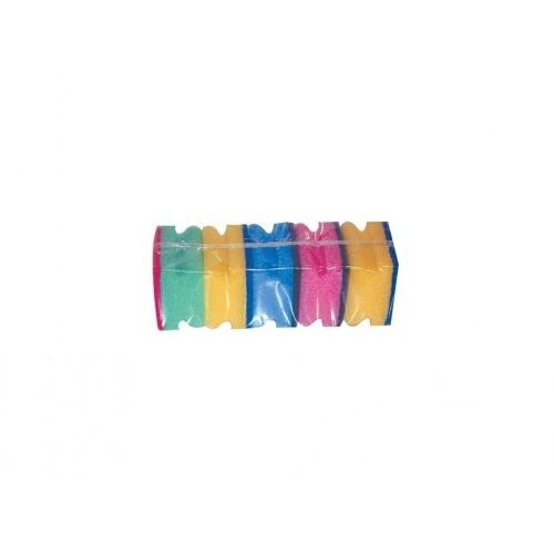 houbička na nádobí tvarov.8,5x7x4,5cm (5ks) 1205 mix barev
