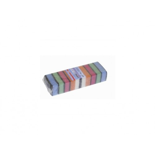 houbička na nádobí 8x4,5x2,5cm (10ks) 1223 mix barev