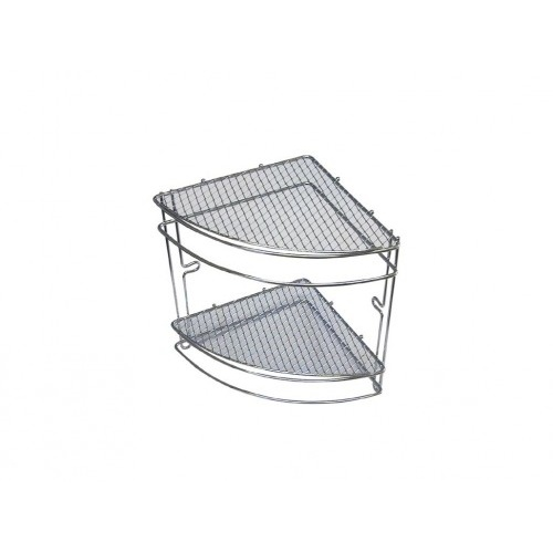 polička rohová (mřížky) 2 patra 20,5x20,5x26cm Cr  2960