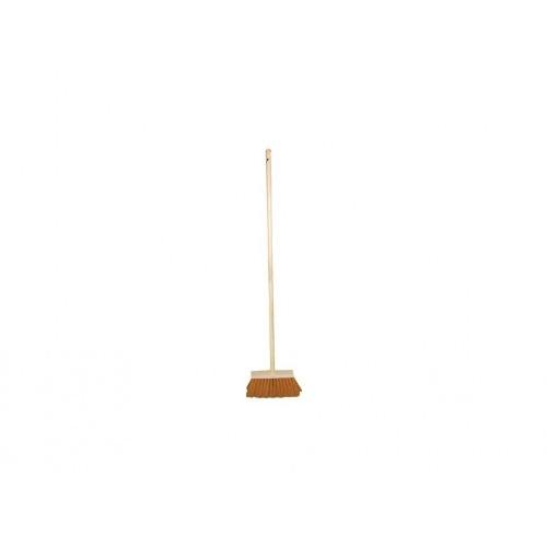 koště zatl.24cm dřev., PVC vlákno 13cm, s holí 120cm
