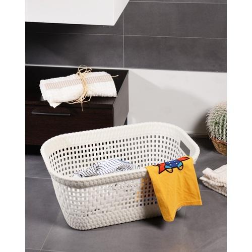 ALDOTRADE Prádelní koš na čisté prádlo Rattan 45l