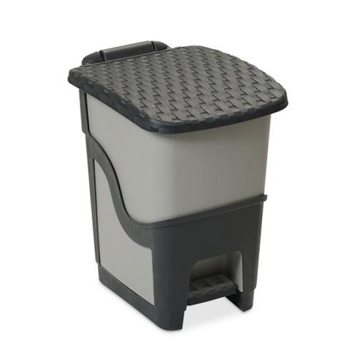 ALDOTRADE Odpadkový koš ratan antracit