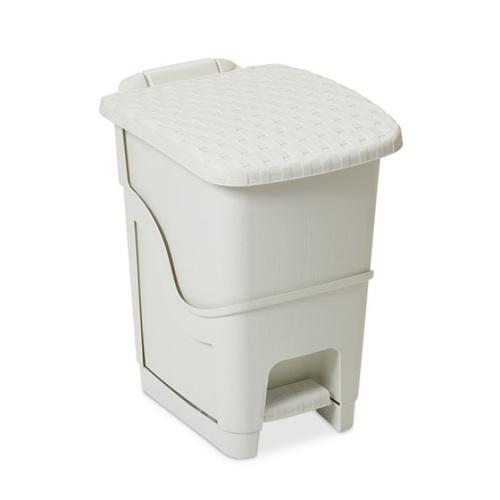 ALDOTRADE Odpadkový koš ratan bílý