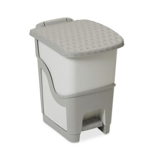 ALDOTRADE Odpadkový koš ratan šedý