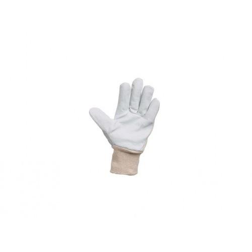 rukavice PELICAN PLUS tkanina/lícová kůže