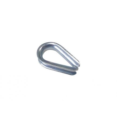 očnice lanová 6mm srdíčko  (10ks)