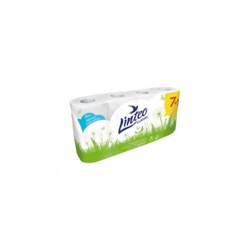 papír toaletní LINTEO 2vrstvý BÍ (7+1ks)