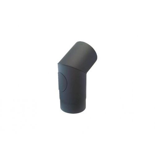 koleno kouřové s otv.145mm/45st.t.1,5mm ČER