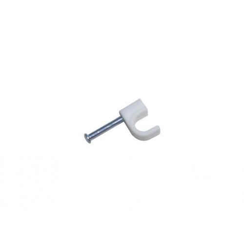 příchytka kabel.kruh.10mm BÍ (25ks) blistr 1137