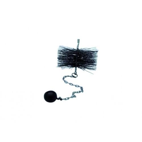 kartáč komínový 180mm, oko-závaží 0,5kg