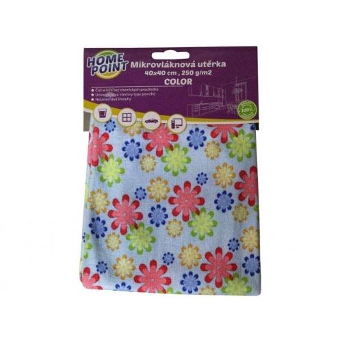 utěrka švédská COLOR 40x40cm 250g/m2 mikrovlákno mix barev