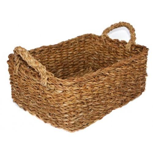 košík hranatý s úchyty velký 36x27x15cm mořská tráva