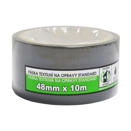 páska textilní na opravy STANDARD 48mmx10m ČER