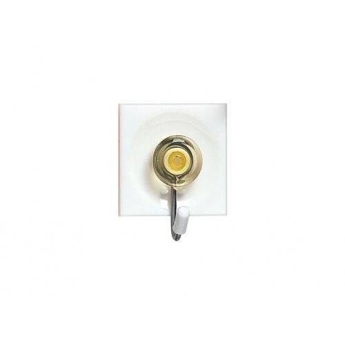 háček samolep.čtverc.3,7x4,5cm PH+kov.mix barev (3ks)