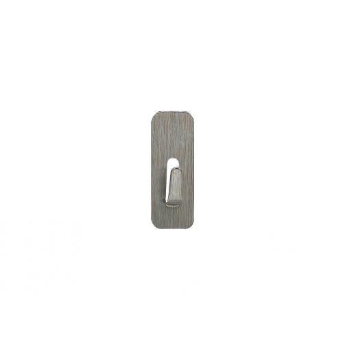 háček samolep.obdél.1,8x4,5cm nerez (4ks)
