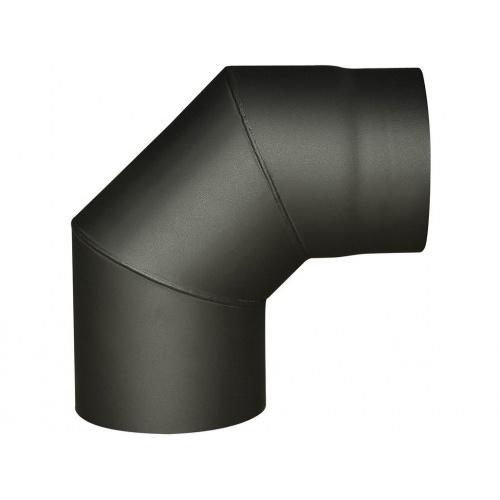 koleno kouřové 125mm/90st.t.1,5mm ČER