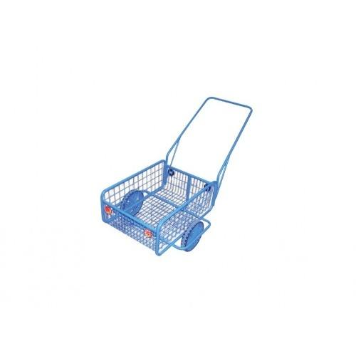 vozík RAPID V, plochá obruč, komaxit, 450x640x280(1320)mm