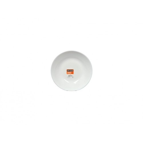 talíř hluboký skleněný ZELIE 20cm BÍ