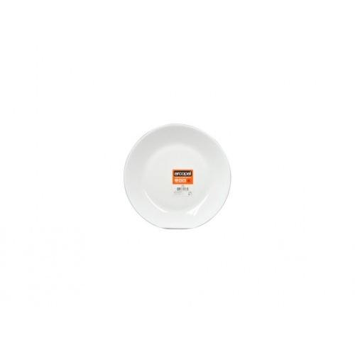 talíř dezertní skleněný ZELIE 18cm BÍ
