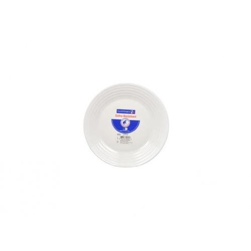 talíř dezertní skleněný HARENA 19cm BÍ