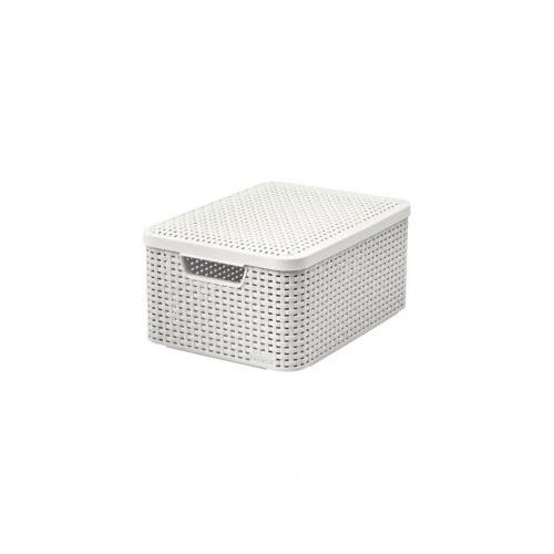 box úložný RATTAN 40x29x19cm (M) s víkem, STYLE2, PH KRÉM