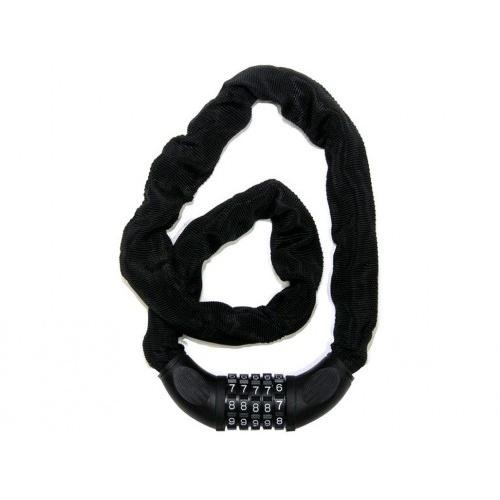 zámek řetězový kódový s textilním krytím ČER  RICHTER