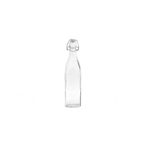 láhev s pákovým uzávěrem  500ml hranatá skleněná