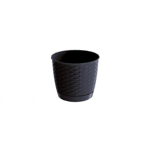 květináč RATOLLA ROUND 22 v.19,5cm,4,2l,ANTR (S433) s miskou