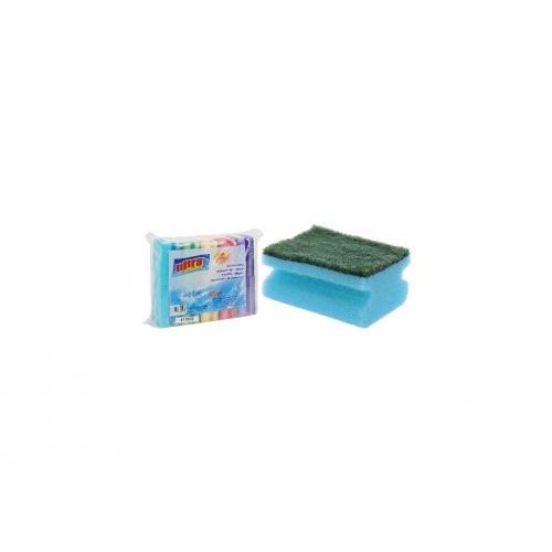 houbička na nádobí tvarov.9x7x4,3cm (10ks) mix barev