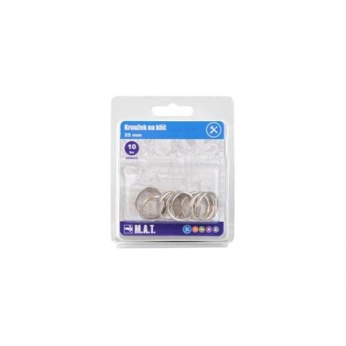 kroužek na klíč 25mm Ni    (10ks)