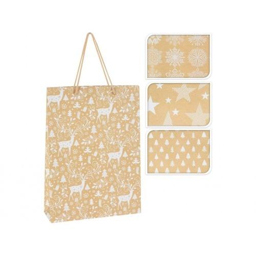 taška dárková 41x33x9,6cm (XL) VÁNOČNÍ mix dekorů