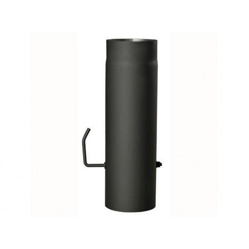 roura kouřová s klap.125mm/1000 t.1,5mm ČER