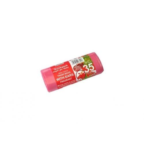 pytle na odpadky s uchy 35l (26ks) 50x56cm s aroma JAHODA 8µ
