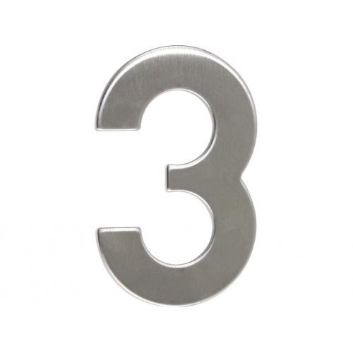 číslo domovní č.3  95mm nerez