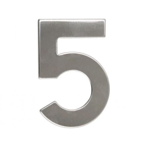 číslo domovní č.5  95mm nerez