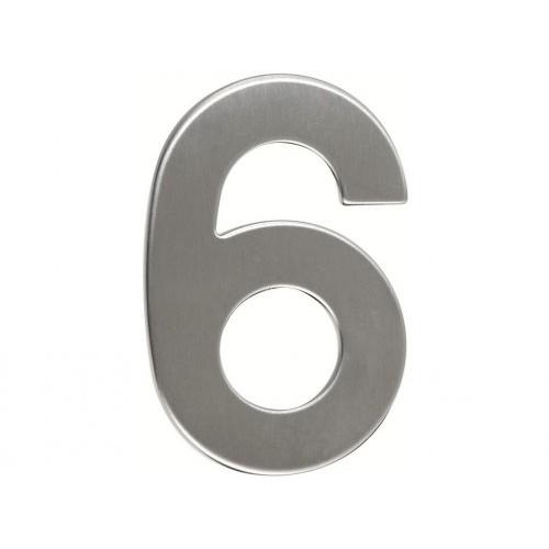 číslo domovní č.6  95mm nerez