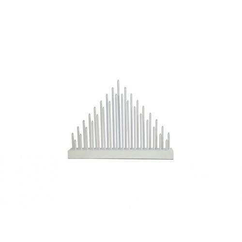 svícen vánoční el.33 svíček LED,teplá BÍ,dřev.BÍ,40,2x30x5cm,do zásuvky