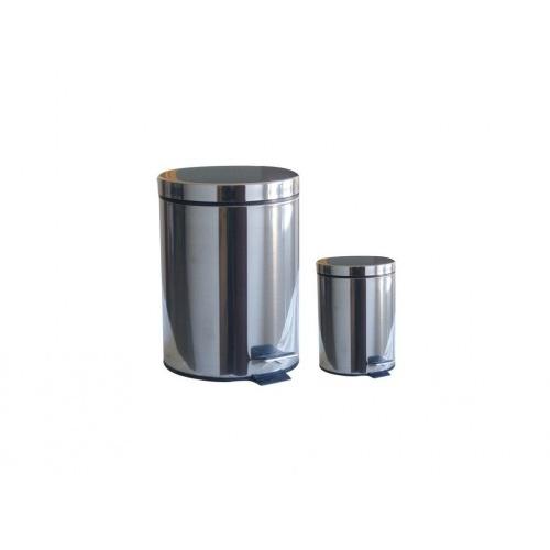 koš odpadkový nášlap.20l+3l kulatý nerez, s vložkou PH