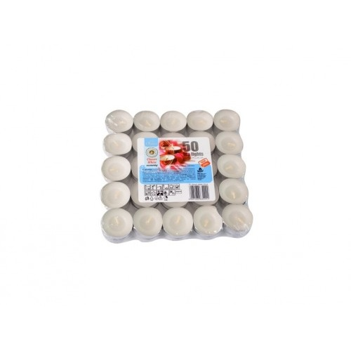 svíčka čajová BÍ (100ks) (hoří 100x3-4hod)